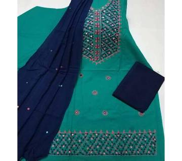 Unstitched Ary Hand work with Ambrodary Shalwar Kameez for Women-21