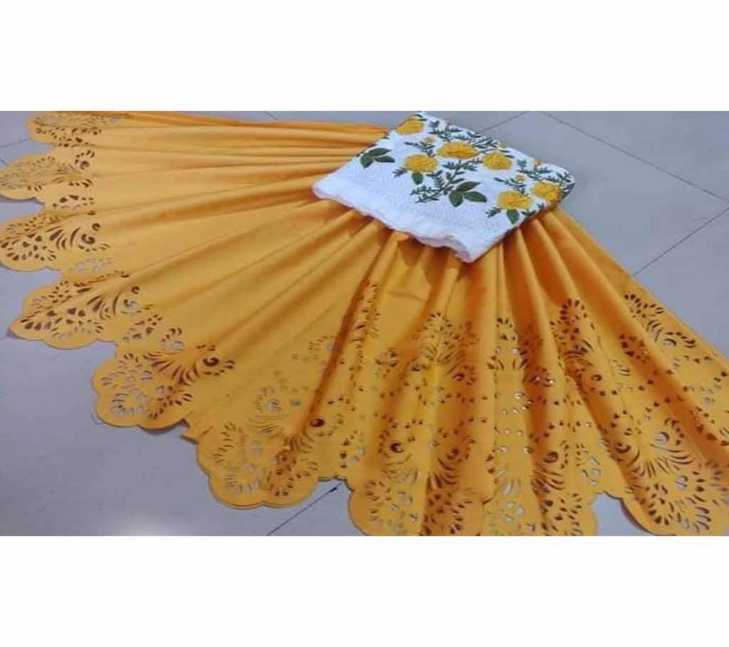 আনস্টিচড পাকিস্তানি লেজার কাট টু পিস-6 বাংলাদেশ - 1127516