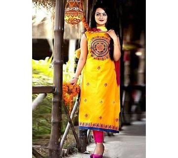 Rajdhani Voil Cotton Block Printed Shalwer Kameez for Women-29