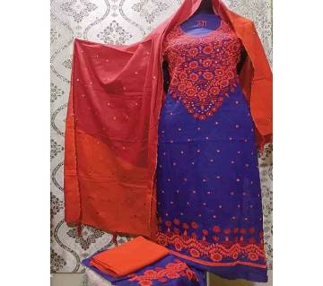 Unstitched Ary Hand work with Ambrodary Shalwar Kameez for Women-31