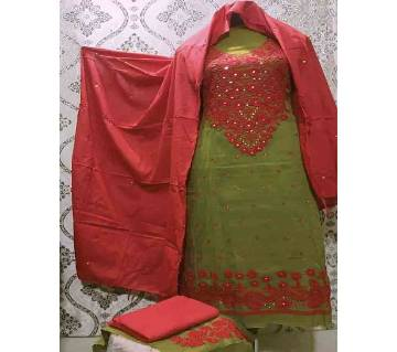 Unstitched Ary Hand work with Ambrodary Shalwar Kameez for Women-35