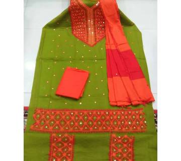 Unstitched Ary Hand work with Ambrodary Shalwar Kameez for Women-52