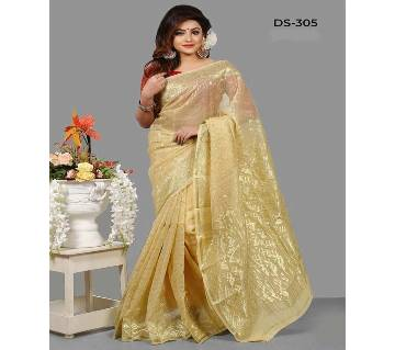 Multicolour Jamdhani Silk Saree with Blouse Piece for Women-50