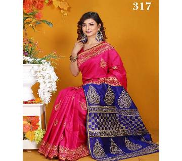 Multicolour Silk Jamdhani Saree with Blouse Piece for Women-317
