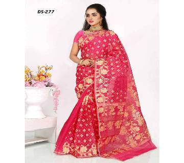 Multicolour Silk Jamdhani Saree with Blouse Piece for Women-277