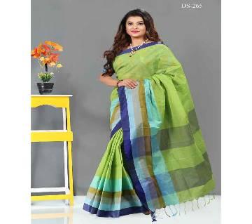 Multicolour Cotton Saree with Blouse Piece for Women-265