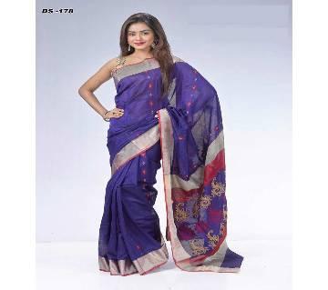 Multicolour Jamdhani Silk Saree with Blouse Piece for Women-178