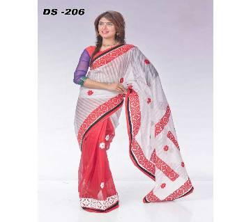 Multicolour StepKota Ablique Saree with Blouse Piece for Women-208