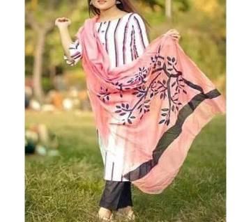Unstitched Cotton screen Printed Salwar Kameez for Women-78