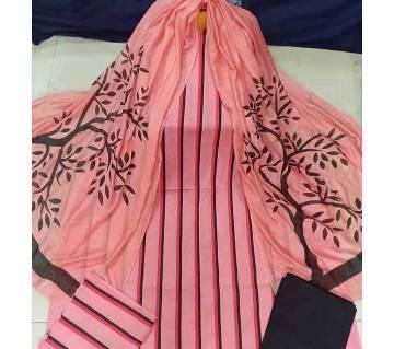 Unstitched Cotton screen Printed Salwar Kameez for Women-83