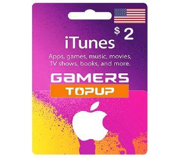 iTunes Gift Card 2 USD - US Region