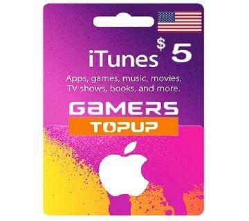 iTunes Gift Card 5 USD - US Region