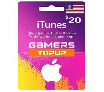 iTunes Gift Card 20 USD - US Region