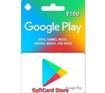 Google Play Gift Card 100 INR - Indian Region