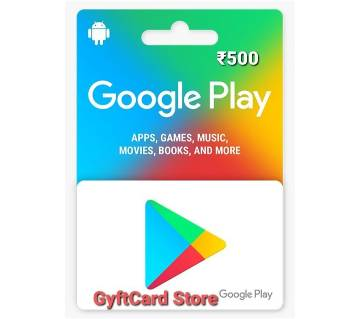 Google Play Gift Card 500 INR - Indian Region