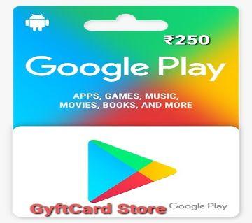 Google Play Gift Card 250 INR - Indian Region