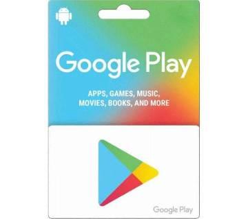 10 Dollar Google Play Gift Card -US Region Gift Code