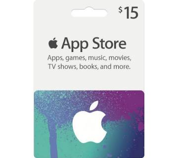 App Store & iTunes 15 Dollar Gift Cards- US Region