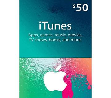 App Store & iTunes 50 Dollar Gift Cards- US Region