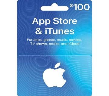 App Store & iTunes 100 Dollar Gift card- US Region