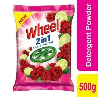 WHEEL 2 IN 1 CLEAN AND ROSE WASHING POWDER 500GM