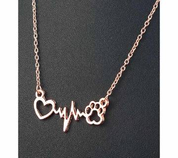 pets footprints love necklaces.