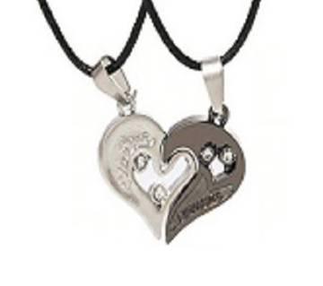 valaintains day dark ash couple necklaces.
