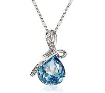 crystal blue pendant necklaces.