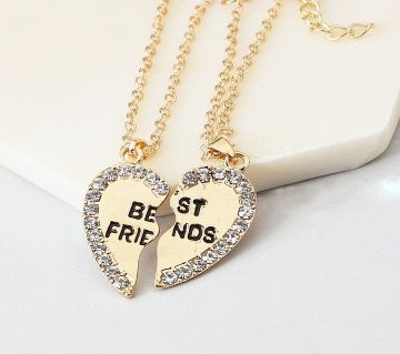 raf021 golden color best friend necklaces.
