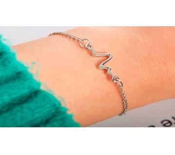 silver color ECG Bracelets.