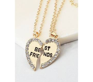 Best Friends lovers gifts silver color pendants necklaces for women