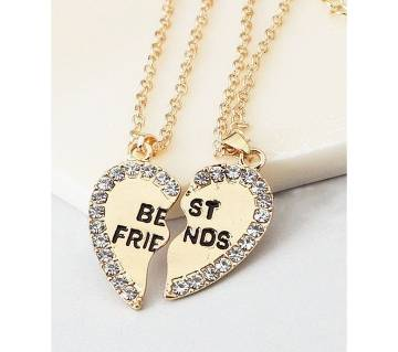 Golden color Best Friends  lovers gifts necklaces for women