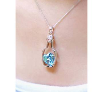 Bottle drift love pendant necklaces for women
