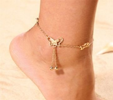 Butterfly gold color Ankle for women