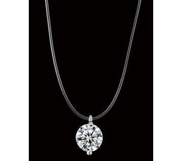 silver color crystal pendant necklaces for women