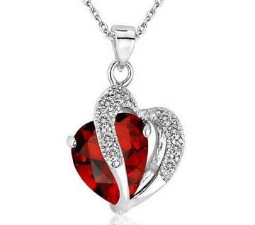 Heart shaped Red Pendant  for women