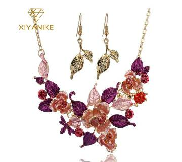 Multicolor party necklaces and earrings for women