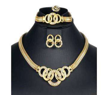 African wedding golden color jewelry sets for women