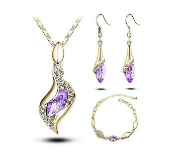 Austrian crystal blue color jewelry sets for women