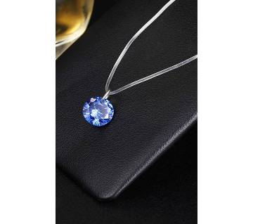crystal blue pendant necklaces for women