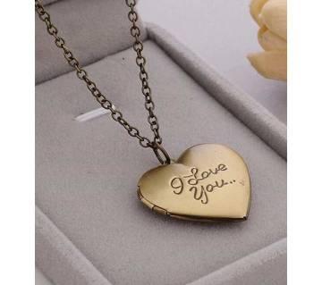 I love u pendant necklaces for women