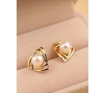 Triangular preal stud earrings for women