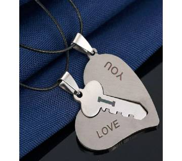 Love key silver color pendant necklaces