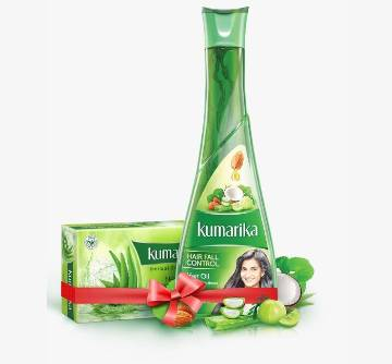 Kumarika Hair Fall Control Oil 200ml (Kumarika Soap Free) BD