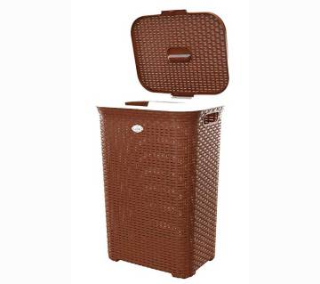 Cane Laundry Basket Oval (96581)-(5% VAT Included on Price)-3813094