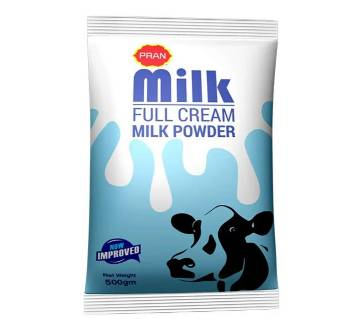 Pran Full Cream Milk Powder 500 gm-(5% VAT Included on Price)-2500142