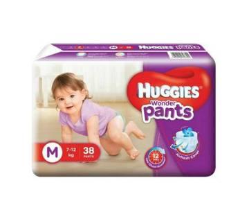 Huggies Wonder Pants M-38 Size(7-12kg)-(5% VAT Included on Price)-2101722