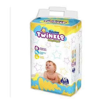 Savlon Twinkle B.Diaper M(6-11kg)40Pcs-(5% VAT Included on Price)-2101951