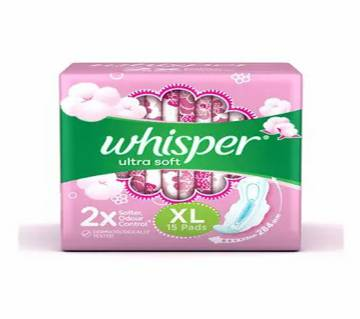 Whisper Ultra Soft XL+ 15Pcs Pads-(5% VAT Included on Price)-3015217