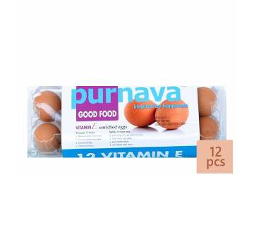 Purnava Vitamin-E Enriched Egg (12 Pcs) - 3101554